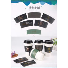 Manufacturer 8 12 16oz Different Size Promotional with Lid Sleeve Cover Hot Coffee Cup New Fashion