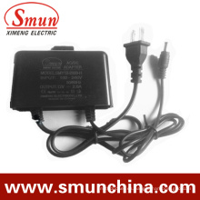 Adaptador de CA / CC a prueba de agua 12V2a negro (SMY-12-2H)