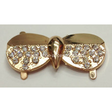 Charming Rhinestone Shoe Clips, Alloy Shoe Buckle