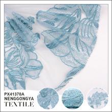 Logo personnalisé Pas cher élégant tissu de tulle polyester décoratif pour robe de mariée