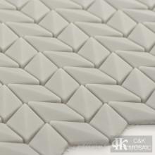 Light Grey Diamond Glass Mosaic Tiles Backsplash