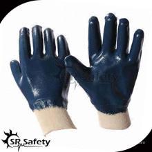 SRSAFETY синий нитрил, полностью погружающийся в тяжелую защитную перчатку