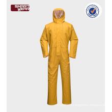 Wholesale PU mens waterproof workwear suit rain wear coverall