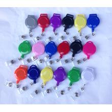 Plastic/Metal Retractable Custom ID Card Holder Badge Reels for Lanyards