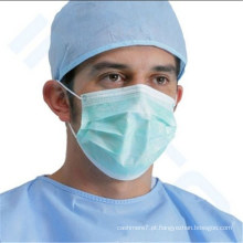 Máscara protectora cirúrgica não tecida descartável da poeira 3ply com Earloop ou Tie-on
