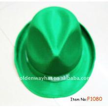 Billig Mode Green Fedora Werbe-Hut PP Hüte mit benutzerdefinierten Logo
