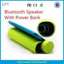 Nuevo banco de potencia de forma de cilindro de moda con altavoz Bluetooth (EG001)
