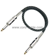 DML Series Instrument Guitar Cable Jack to Jack Black Nylon Jacket