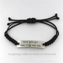 Fashion New Arrival Zircon Jewelry Curved Bracelet Leather