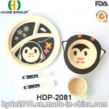 Eco-Friendly durável bambu fibra bebê louça define (HDP-2081)