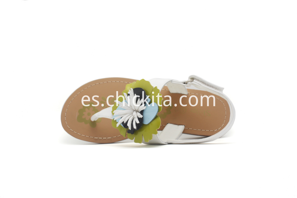 Children Lovely Fashion Flat Sandals with colorful flowers