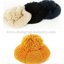 Frauen Acryl stricken Pom Winter warme Mütze Lieferant
