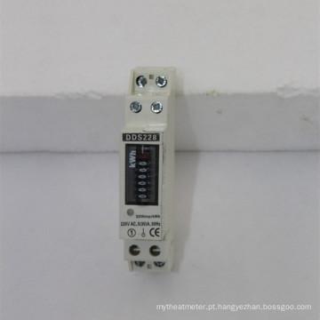 Medidor de Eletricidade Watt-Hour Remoto DIN com Trilho Monofásico com RS485