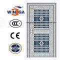 Verzinkter Edelstahl Eingang Sicherheit Stahl Glastür (W-GH-27)