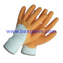 10 Gauge Polyester Liner, Latex Coating, 3/4, Crinkle Finish Handschuh