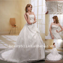 Astergarden à la mode bretelles longues traînées en dentelle blanche en mariée Robe de mariageAS023