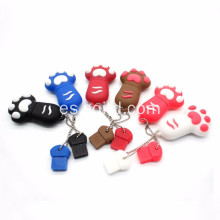 Custom CAT garras Cartoon Silicone PVC USB Flash Drive U Disk
