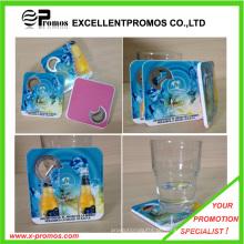 Novo estilo PS Coaster com abridor de garrafas (EP-C65511)