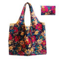Wholesale custom foldable pocket tote bags colorful printed polyester folding bag