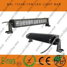 72W, luz de trabajo LED de 13 pulgadas, barra de luces LED Creee de 24PCS * 3W para camiones