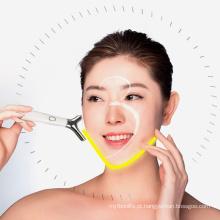 Mini massageador elétrico para rosto com vibração em aço inoxidável