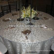 Elegant high quality jacquard table cloth for banquet