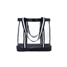 Portable Waterproof Beach Bag Clear PVC Shopping Bag Transparent Tote Bag