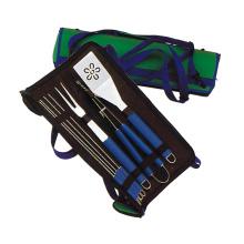 Accesorios para herramientas de barbacoa 7 piezas con espátula en forma de flor