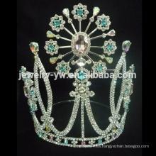 Corona cristalina de la manera para la mujer de la fábrica de la joyería del zhanggong