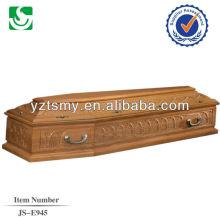 poignée en métal belle sculpture pour le cercueil de noyer