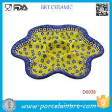 Colorful Decorated with Small Petal Deviled Egg Plate