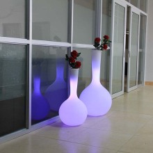 Plastic Illuminated Flower Pot Home Decoration LED Planter