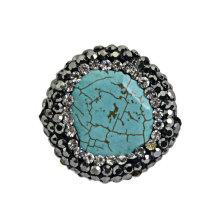 Petits bijoux en perles turquoise à la mode 20 * 20