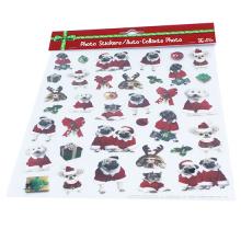 Weihnachtsnetter Karikatur-Hund scherzt statische Aufkleber der Karikatur
