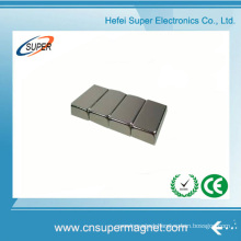 ISO9001 Certificated N42 Ni Coating Neodymium Block Magnet