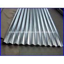 Folha de telhado ondulado galvanizado (0.13-1.0mm espessura)