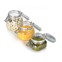 Preservando Biscuit Vidro Armazenamento Jar Clamp Jar