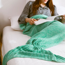 China Softtextile Knitted Fleece Mermaid Tail Decke mit 195X95cm