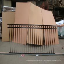 2 ou 3 trilhos de alumínio / aço lança superior e plana superior cerca ornamental