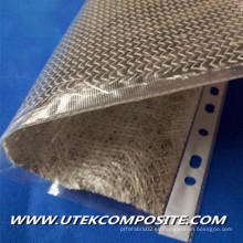 Velo de fibra de carbono con respaldo de fibra de vidrio para tubo de seis partes