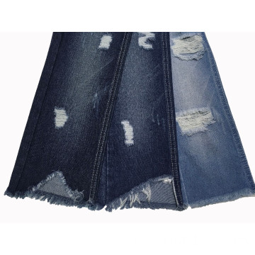 Ripped Design Stone Wash Denim Fabric TC