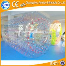 Bola inflable divertida del agua que camina pelota del polo del agua de agua de agua de rodillo de alquiler