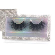 SL018FZ Hitomi your own brand eyelash 100% Siberian Mink Fur Eyelashes Fluffy real 25mm mink eyelashes