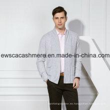 Suéter de Cachemira Pura de Color Sólido Suave para Hombres