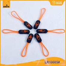 Nouveau style avec logo Plastique Zipper Puller pour bagage LR10005