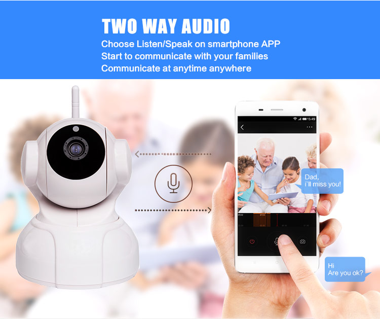 Two Way Audio IP Camera