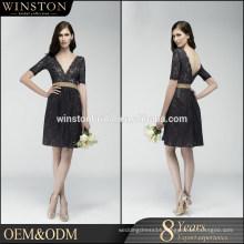 High Quality Custom Made split long evening dress