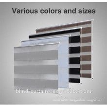 100% Polyest fabric wholesale Mini style zebra blind / day and night blind from Dongguan China