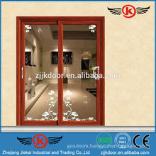 JK-AW9151 industrial sliding doors with glass for interior decoration