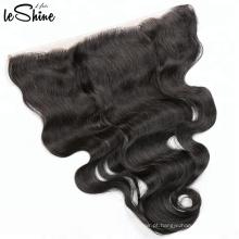 Cabelo brasileiro da onda do corpo nenhum emaranhado nenhum fechamento frontal do laço do Weave 360 do cabelo humano da vertente